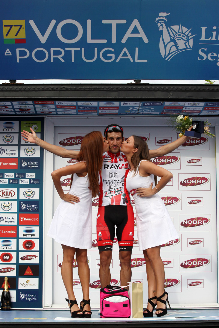 O espanhol Vicente Garcia Mateos, vencedor da primeira e mais longa etapa da Volta a Portugal
