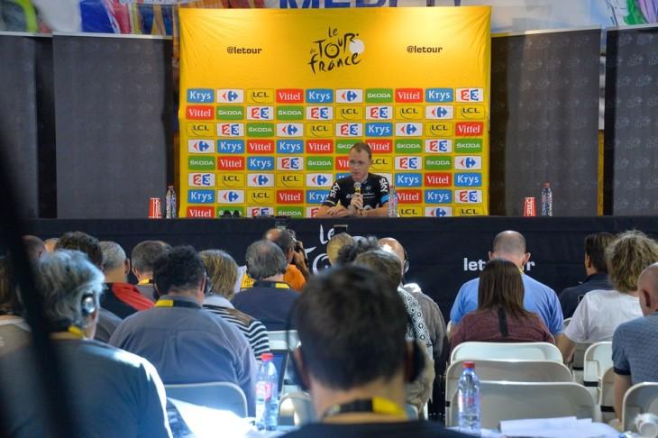Tour de France 2015 -  20ª Etape - Modane / l'Alpe d'Huez - 110,5km - Christopher FROOME/SKY na coletiva de imprensa -foto© ASO/B.Bade