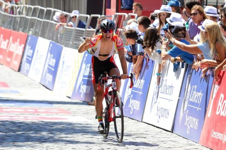 Francisco Campos foi o vencedor da etapa que chegou a Fafe Foto: João Fonseca