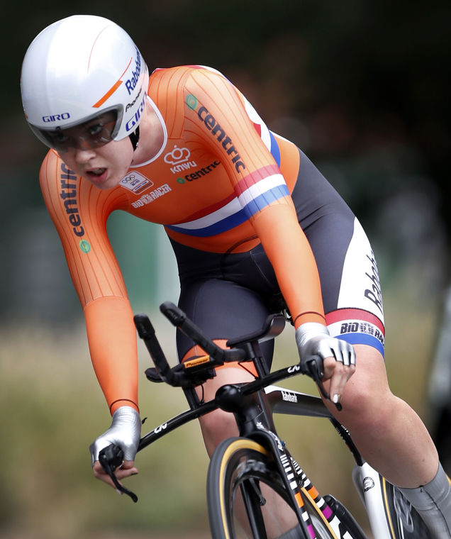 A holandesa Anna Van Der Breggen ganhou sua primeira medalha em mundiais foto: ©Dean Hoffmeyer Times Dispatch