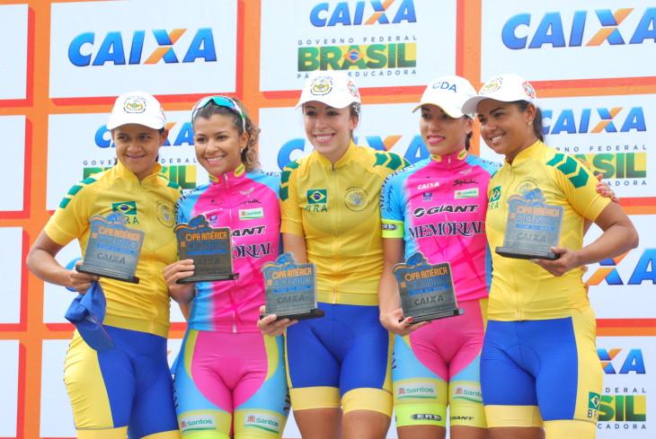 Pódio da categoria Feminina foi dividido pelas ciclistas da Memorial e da Seleção Militar Foto: George Panara/MundoBici©