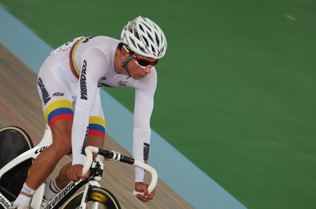 O colombiano Juan Esteban Arango, campeão Panamericano do Omnium