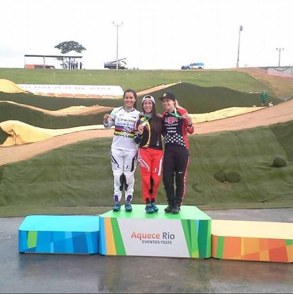 Nº1 do Mundo, a colombiana Mariana Pajon fez o melhor tempo contra o relógio