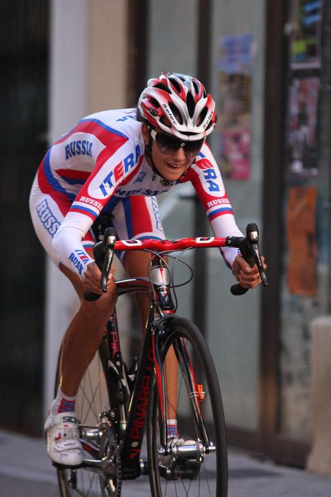A russa Natalia Boyarskaya saiu com duas medalhas de ouro da Coreia. Venceu o CRI e a Prova de Estrada - foto: Velopalmares