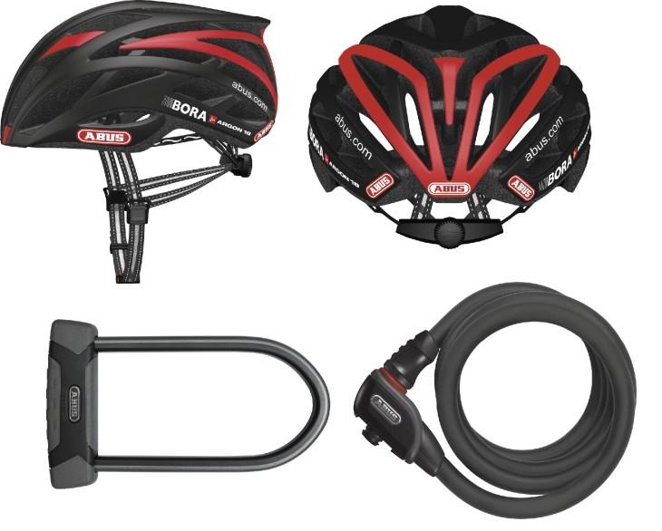 O capacete Tec-tical Pro V.2 usado pela equipe bora Argon e as travas Granit e Phantom