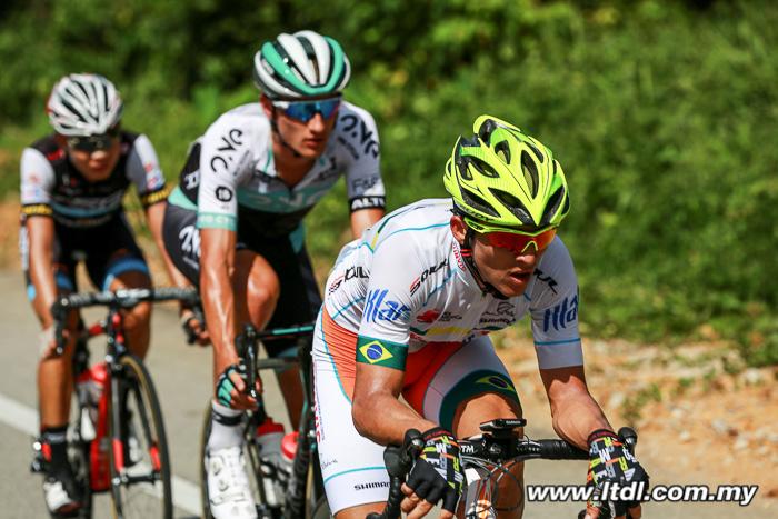 João Marcelo Gaspar levou o prêmio de ciclista mais combativo do dia