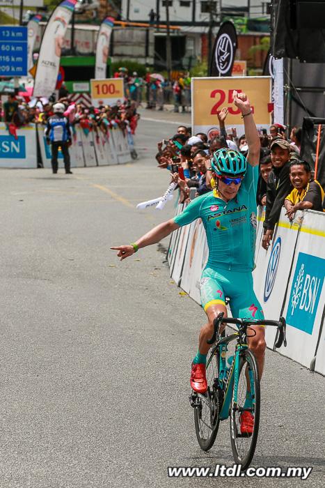 Com um ataque solo a 3 km da meta o colombiano Miguel Ángel Lopez vence a 4ª etapa e assume a camisa de líder