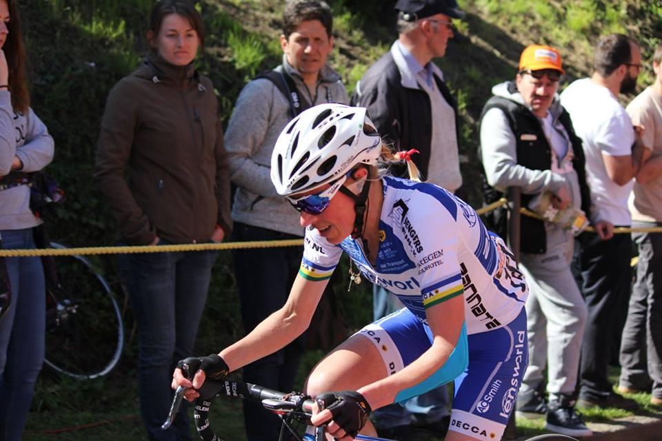Flavia Oliveira em sua primeira disputa da Flèche Wallone terminou na 48ª posição
