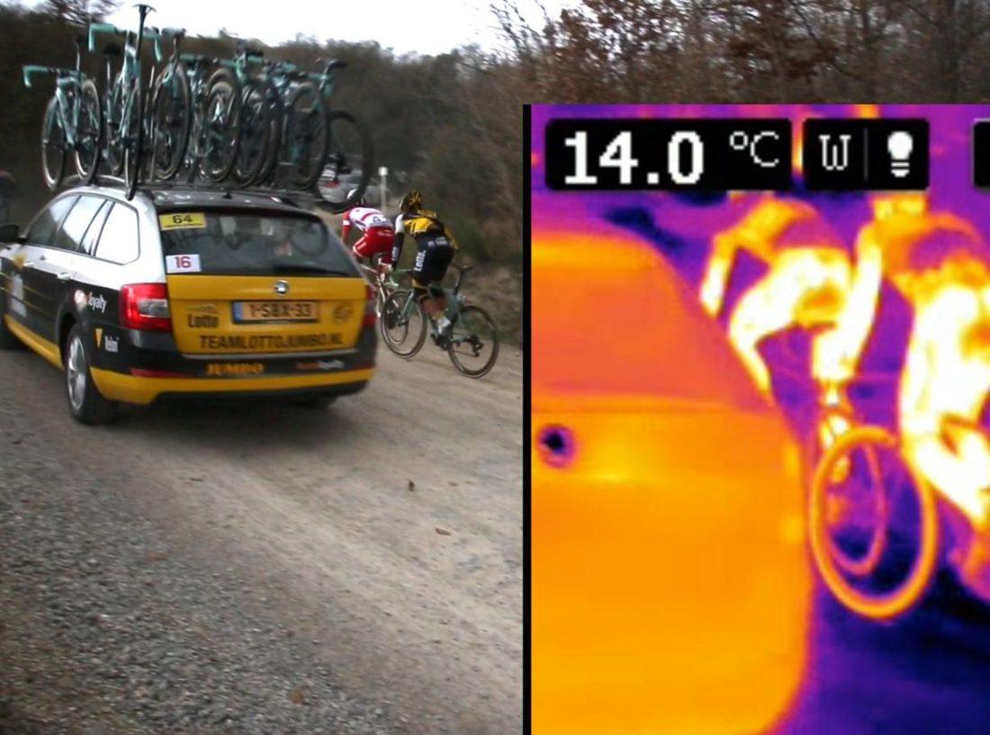 Na Strade Bianche a bicicleta de Roglic era uma das 7