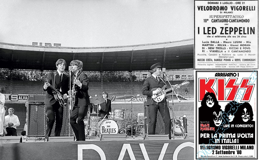 Grandes nomes da música se apresentaram no Vigorelli. Os Beatles fizeram a primeira grande apresentação em 1965; em 1971  foi a vez do Led Zepellin em um concerto marcado por confrontes entre o público e a polícia. O Kiss se apresentou em 198o junto com o Iron Maiden. O último a se apresentar foi James Brown em 1999