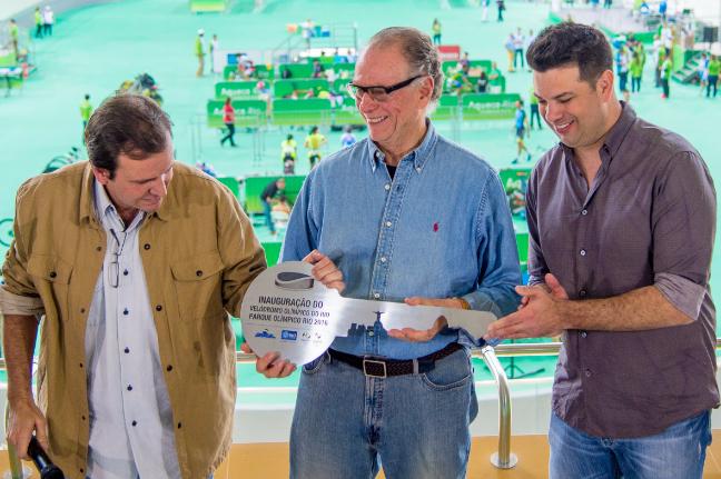 O Velódromo do Rio é oficialmente entregue aos Jogos Rio 2016 (Foto: Rio 2016/Paulo Mumia)
