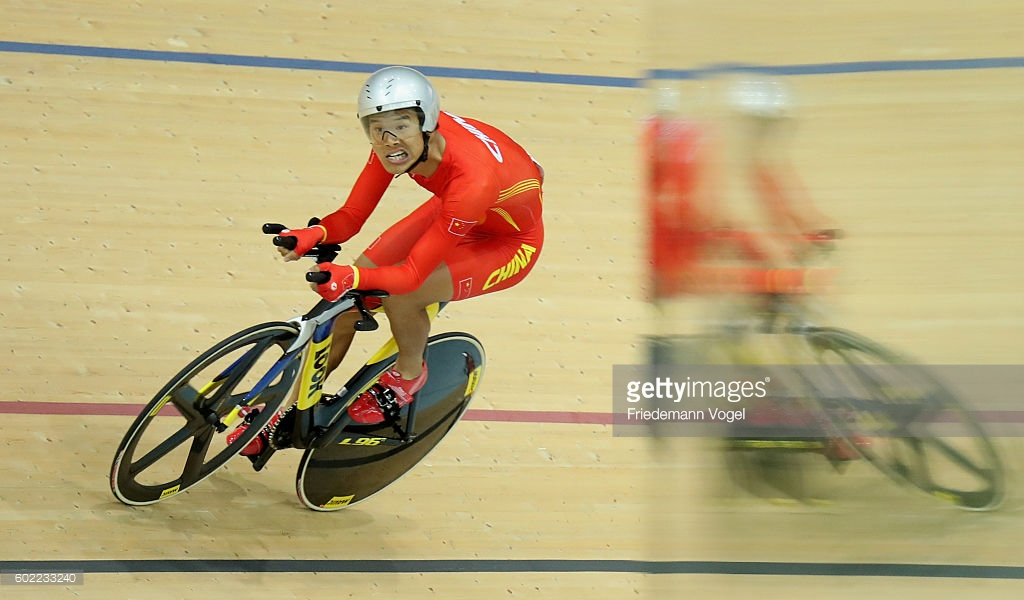 Zanghyu Li já conquistou 2 ouros no velódromo do Rio2016 - foto: Friedemann Vogel/Getty Images