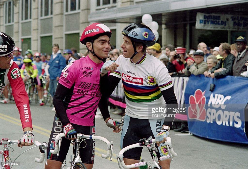O encontro de Raúl Alcalá e o campeão mundial de 1989 na segunda edição do Tour de Trump
